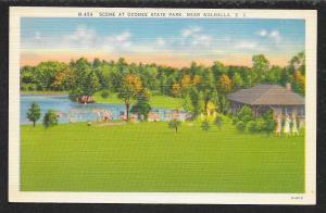Distance View Oconee State Park Walhalla South Carolina Unused c1930s