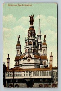 Montreal P.Q. Canada - Bonsecours Church, Vintage Postcard