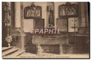 Old Postcard Saint Omer Tomb Basilica of Our Lady of Saint Erckembode