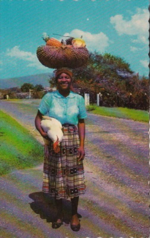 Jamaica Woman Returning From Market