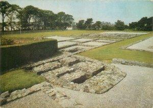 Wales Postcard Segontium Roman Fort historical landmark