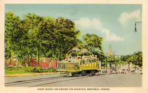 Canada - Quebec, Montreal. Observation Street Car