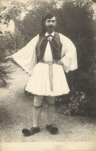 greece, Native Man in Costumes (1910s)