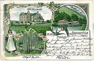 VINTAGE POSTCARD: Czech Republic - BRANDYSA 1900