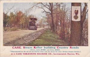 Tractors Case Steam Roller Building Country Roads Case Threshing Machine Comp...