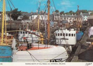 Fishing Boats at Killybegs County Donegal Irish 1970s Postcard