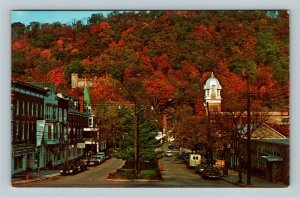 Berkeley Springs WV, Fairfax Street, The Castle Chrome West Virginia Postcard