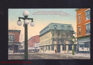 PLAINFIELD NEW JERSEY DOWNTOWN PARK AVENUE STREET SCENE VINTAGE POSTCARD NJ