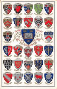 Oxford University~Coats of Arms Colleges~27 Heraldic Shields~Silver Gold~1910 #2