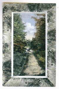 Urlton to Ballston Spa, New York used Postcard, 1913, Lover's Lane