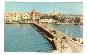 Pontoon bridge with view of Punda, Curacao, Netherlands Antilles,40-60s