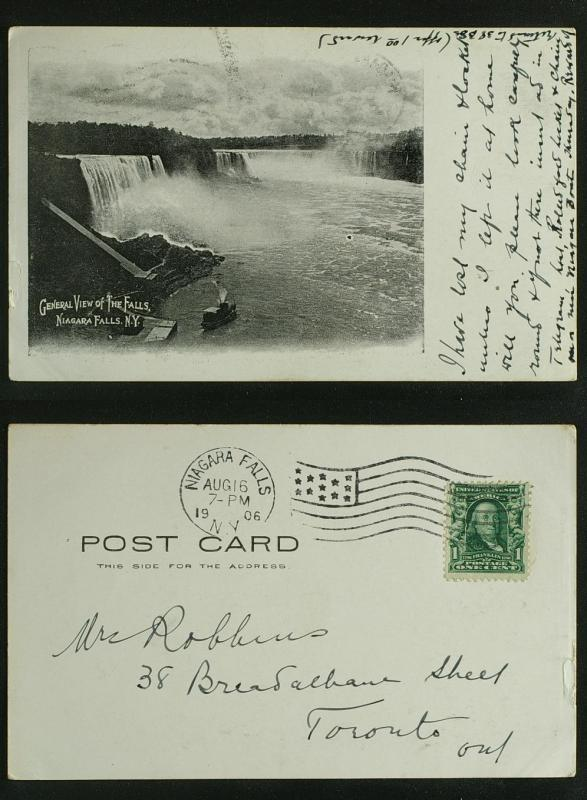 General view of the falls undivided back PC pmk 1906