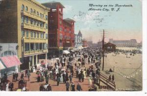 New Jersey Atlantic Beach Morning On The Boardwalk 1911