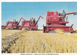 Giant Combines, Harvest Time In Saskatchewan, Canada, 1970-1980s