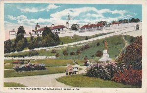 Michigan Mackinac Island The Fort And Marquette Park