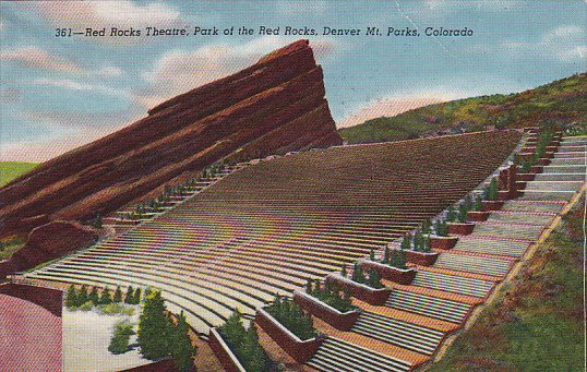 Colorado Red Rocks Theatre Park Of The Red Rocks 1954