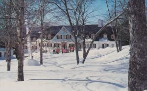 Lodge at Mont Trmblant Lodge, Winter Scene, MONT-TREMBLANT, Quebec, Canada, 4...