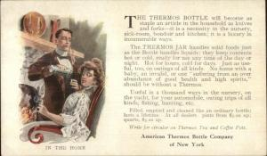 American Thermos Bottle Co New York c1910 Postcard IN THE HOME