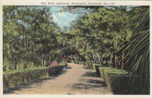 SAVANNAH , Georgia, 1900-10s ; Main Approach , Greenwich