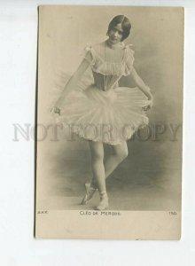 438416 CLEO DE MERODE French BALLET Dancer Vintage PHOTO postcard BNK #150