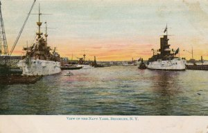 BROOKLYN , New York, 1901-07; View of the Navy Yard, Ships
