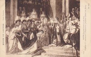 Museum De Louvre David Napoleon 1st couronnant l'Imperatrice Josephine