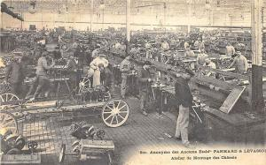 Panhard & Levassor Motors Auto Builders Chassis Assembly Workshop Postcard