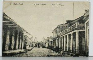 Baracoa Cuba Calle Real Royal Street Antique Postcard K1
