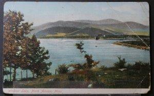 North Adams, MA - Windsor Lake - 1909 Flag Cancel