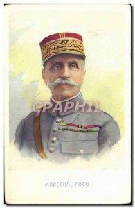 Postcard Old Marechal Foch Army
