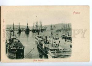 174029 Croatia Rijeka FIUME Molo Adamich Vintage postcard