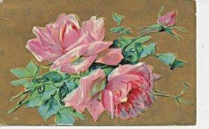 Postcard - Embossed Vintage Flowers Posted 1909