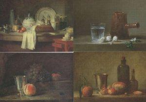 Jean Baptiste Simeon Chardin 4x RA Still Life Painting Postcard s