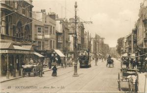 Southampton - Above Bar tram street view stores shops