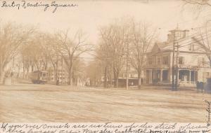 Reading Massachusetts~Italiante Home, Trolley @ The Square RPPC 1906