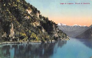 Lake Lugano, Rocco di Gandria, Switzerland, Early Postcard, Unused