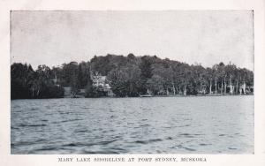Mary Lake shoreline , PORT SYDNEY , MUSKOKA , Ontario , Canada , 1930-50s