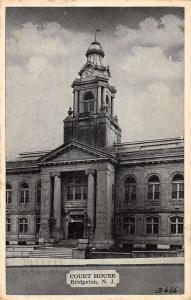Court House in Bridgeton  New Jersey Antique Postcard L496