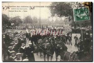 Old Postcard Death Funerals of victims of Latouche Treville Defile coffins