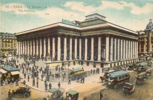 Paris the Exchange France surface public transport automobiles 1910s