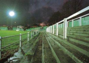 Non-League Football Ground Postcard, Hitchin Town FC, Topfields, Hertfordshire