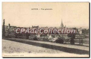 Old Postcard Autun Vue Generale
