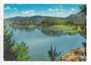 Aerial View of Lake Toba and Parapat Resort, Sumatra Indonesia 1940-60s