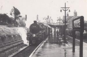Engine 76010 with Wareham Train at Swanage Station in 1960 Railway Postcard