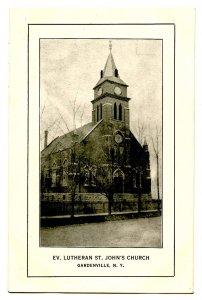 NY -  Gardenville. Evangelical Lutheran, St. John's Church