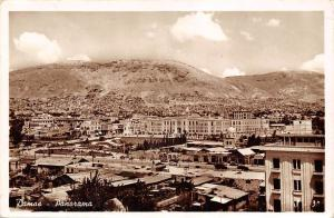 Syria Damas - Damascus - Air view, Panorama 1956 real photo