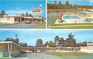 Callahan FL Holiday Time Motel U. S. 301 Old Cars Postcard