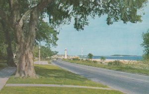 BILOXI, Mississippi, 1950-1960's; Biloxi Lighthouse, Along The Coast