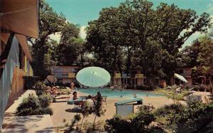 FORT WORTH, TX Texas  CLAYTON HOUSE MOTEL  Pool  ROADSIDE  Chrome Postcard
