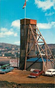 Mine Shaft Big Nickel Monument Sudbury Ontario Canada CA old cars Postcard